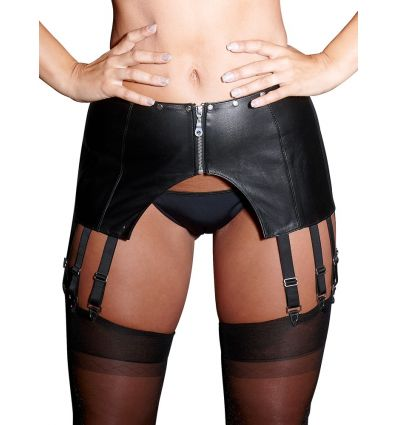Leather Suspender Belt XL